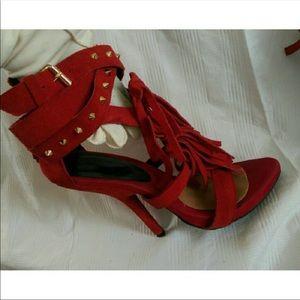 Giuseppe Zanotti Red Heels, Size 39