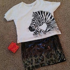 LOFT Cute Zebra T Shirt