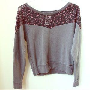 Roxy lace flower sweater