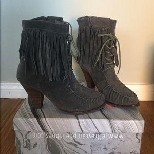 Vintage Fringe Jeffrey Campbell Boots