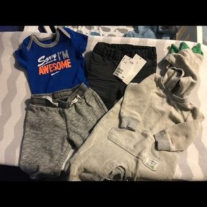 Baby boy clothes bundles H&M, Nike, Carters 3-6M