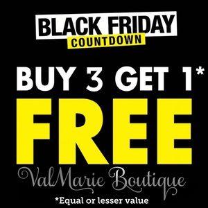 BUY 3 GET 1 FREE - BLACK FRIDAY SALE