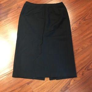 Talbots Black wool pencil skirt
