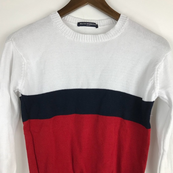 Brandy Melville - Brandy Melville Red White Blue Striped Sweater ...