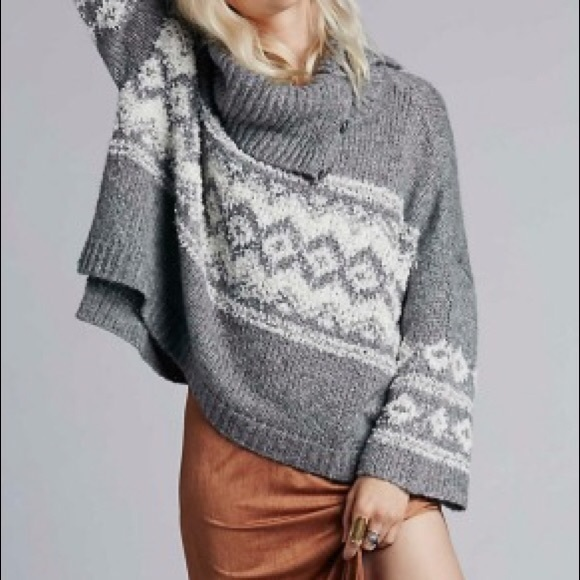 56% off Free People Sweaters - 🆕NWOT Free People Fair Isle Split ...