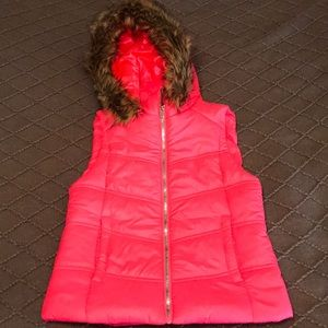 Juicy Couture Bright Pink Puffer Vest
