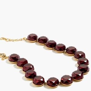 J. Crew Circular Stone Red Necklace