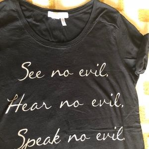 """Forever 21 tee """"See no evil..."""""""