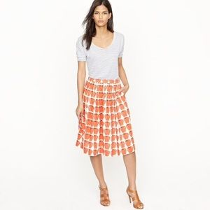 J. Crew pleated jardin Skirt in delicious apple