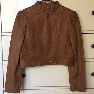 Arden B Genuine Leather tan Jacket