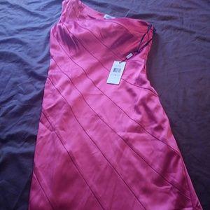 Calvin Klein fusia satin dress size 6