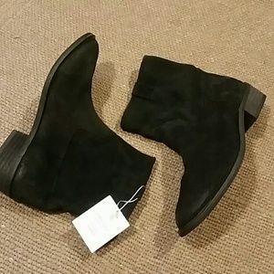Zara black suede booties
