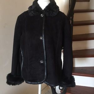 Gorgeous ColdWater Creek Black Jacket