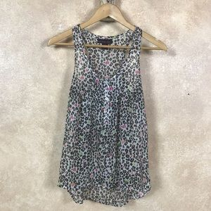High-low Polyester Tank Top