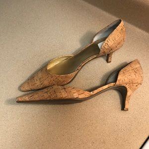Cork textured heels