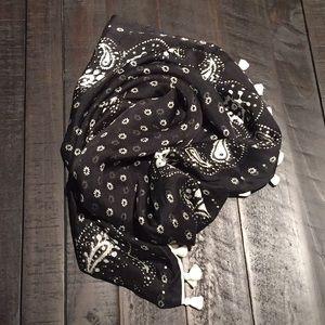 J.Crew Silk tassel handkerchief infinity scarf