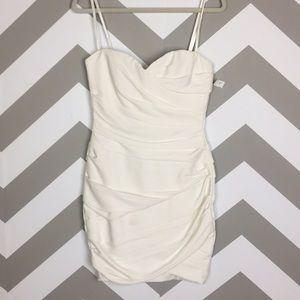 BCBG Maxazria White Strapless Madge Dress 4 NWT