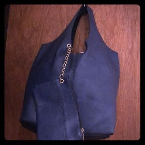 Blue Italian leather bag bought in Italy.