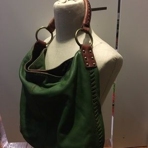 Lucky Brand green leather shoulder bag