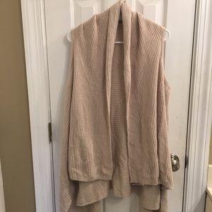 Oversized vest cardigan