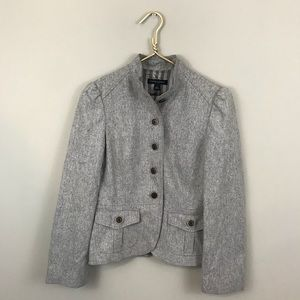 Banana Republic Gray Wool Blazer Jacket