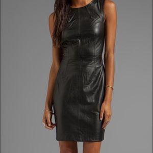 NWT Trina Turk Lambskin Leather Dress 2