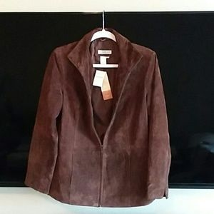 NWT🎵Suede Leather Jacket!!!!!