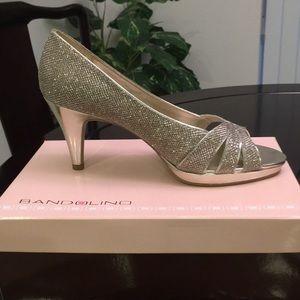 Badolino Gold sparkle shoes