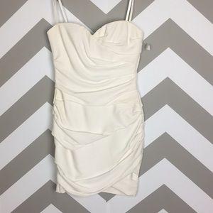 BCBG Maxazria Madge White Strapless Dress 4