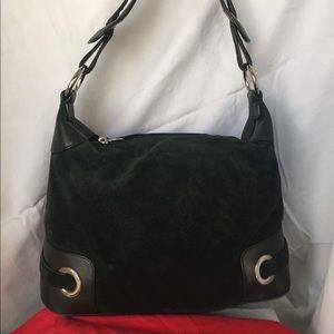 Bally hobo bag in black suede