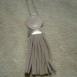 NWT blush pink & Tan Necklace
