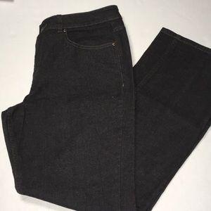 Coldwater Creek black boot leg jeans - 14