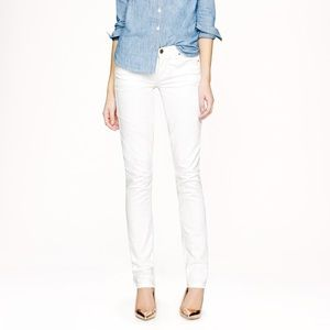 J.Crew Toothpick Jean In White 27
