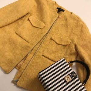 H&M • Yellow Tweed Blazer