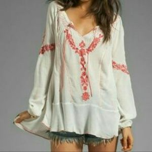 Free people embroidered peasant tunic