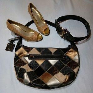 🆕 Tignanello Patchwork Leather Hobo Bag