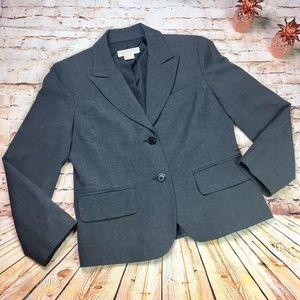 [Michael Michael Kors] Gray Two Button Work Blazer