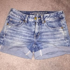 AEO Midi Denim Shorts