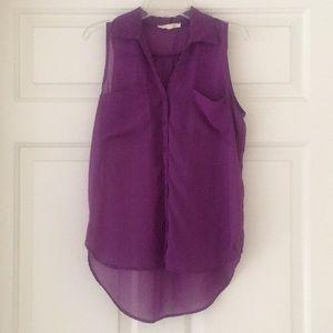 Transparent Purple Top
