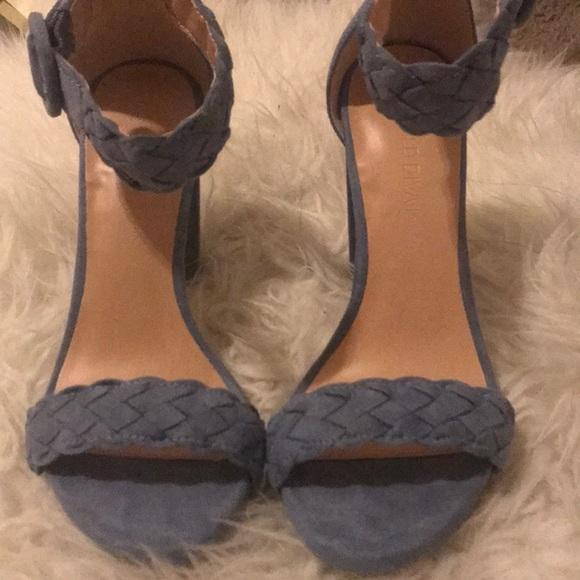 1090d01e5a77 Blue Braided Strap Heels. M 5a14b04e13302aa42100cf3e