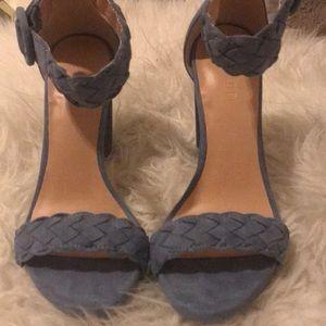 Blue Braided Strap Heels