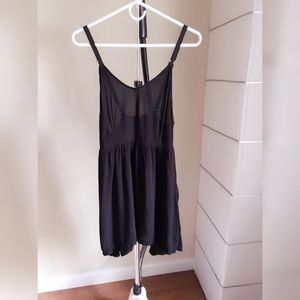 Forever 21 Black Sheer Longline Cami Top