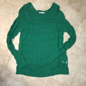 Sheer green Old Navy sweater