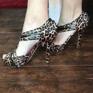 Betsy Johnson Leopard print heels
