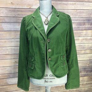 LOFT Holiday Green Corduroy Blazer