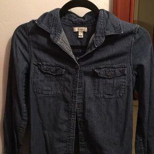 J crew dark denim shirt size 2