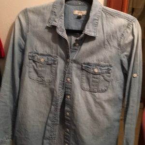 J. crew chambray top, size 2