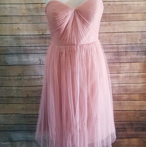 Jenny yoo size 8 blush pink tulle dress