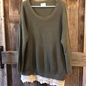 Urban Outfitters Lace Oversized Sweater
