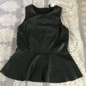 Faux Leather Peplum ✨ Worn Once!